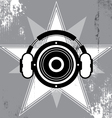 grunge music star design vector image vector image