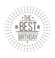 Festive Happy Birthday vector image