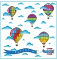 air balloon composition vector image