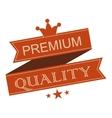 Premium quality vintage ribbon banner vector image