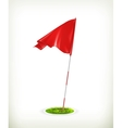 Red golf flag vector image