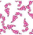 Seamless pattern with beautiful sacura spring vector image