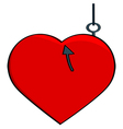 Hooked heart vector image vector image