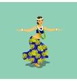 a Hawaiian hula dancer woman vector image