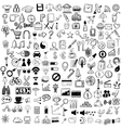 Set of sketch icons for site or mobile application vector image