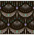 Seamless art deco modern pattern graphic ornament vector image