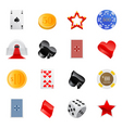 gambling icon vector image vector image