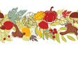 Autumnal seamless background vector image vector image