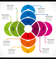 creative colorful circle info-graphics design vector image