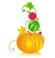 Pumpkins Watermelon Cherry vector image vector image