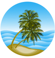 a sea landscape with a palm vector image