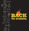 Back to scholl concept vector image