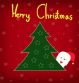 background christmas tree with snowflakes and sant vector image