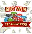 big winner poster you win explosion money vector image