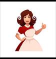 cartoon housewife retro woman vector image