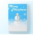 Christmas hollyday card with snowman vector image