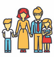 happy family - son mother father daughter vector image