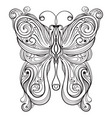 vector monochrome butterfly vector image