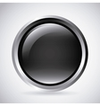 Black button Label design graphic vector image