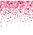 Flying heart confetti valentines day vector image