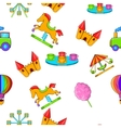 Rides pattern cartoon style vector image vector image