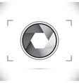 Gray stylized camera shutter diaphragm vector image