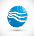 Wave water icon abstract icon 3d symbol vector image vector image