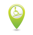 Map pointer with handicap icon vector image