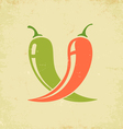 chili red and green vector image