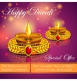 Happy Diwali jewelery promotion background with vector image
