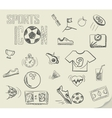soccer doodles vector image