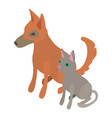cat dog icon isometric 3d style vector image