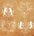 Coats of arms - hand drawn funny design vector image