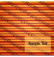 Colorfur striped musical background vector image