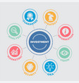 investment with icons vector image