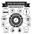 Japan infographic elements simple style vector image