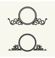 Set simple and graceful floral monogram vector image