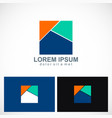 square colored logo vector image