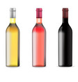 wine bottles with blank label vector image