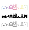 Algiers skyline linear style with rainbow vector image vector image