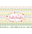 Easter borders ornament garland set Banner with vector image