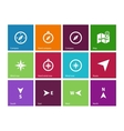 Compass icons on color background vector image vector image