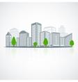 Building landscape emblem vector image