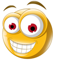 Emoticon smile for you design vector image