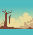 hanging tree vector image