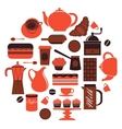 Coffee composition vector image