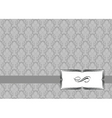 Vector small ribbon frame and background vector image