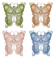 four vector bright butterflie vector image