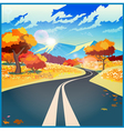 Autumn road vector image