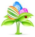 easter eggs-flowers vector image